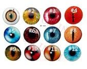 4pcs  25mm Glass Eyes Flat Back  Animal Eyes Handmade Glass Cabochon DIY Doll Making Supply
