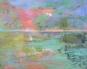Aurora Pond-- Fine Art Print