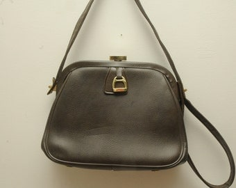 Vintage Purse Olive Green Jaclyn Equestrian