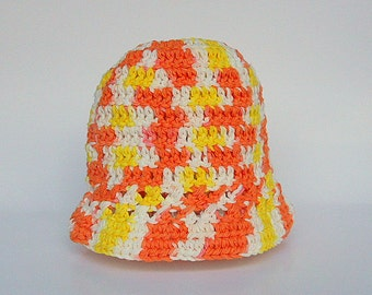 Yellow Orange White Hat 18 Months Old Infant  Girl  Spring Cotton  Cap 9 Months To 2 Years Old Baby Boy Summer  Beanie
