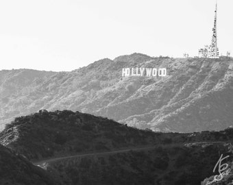California Photo, Hollywood Sign View from Observatory, Los Angeles Califorinia Picture, 11x14 Photo Art, Frame Option