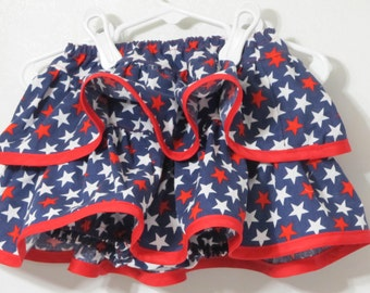 Diaper Cover - Ruffle Bloomers - Baby Bloomers - Star Diaper Cover - Patriotic Diaper Cover - Red White And Blue Diaper Cover - Baby Clothes