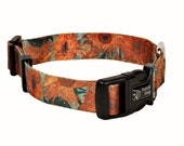 Van Gogh Sunflowers - dog collar - Recycled PET webbing