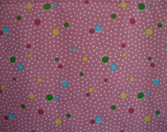 100 % Cotton Pink Polka Dot Tablecloth 53 inches x118 inches