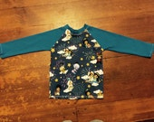 A whole new world...., size 4 long sleeved t-shirt