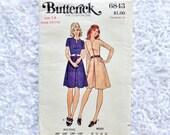 Vintage Butterick Dress Pattern 6843 Size 14 Miss Petite Bust 36