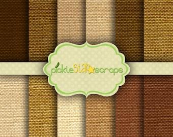 Printable Craft Digital Papers Natural Burlap Papers Burlap Printable Burlap Backgrounds - Fabric Burlap Texture - INSTANT DOWNLOAD