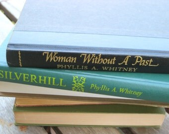 Phyllis A. Whitney, Woman Without a Past and Silverhill, Vintage hardcover books, Psychological suspense novels for great summer reading