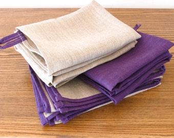 Linen Tea Towel / Kitchen Towel / Hand Towel / Dish Cloth / A Set of 3