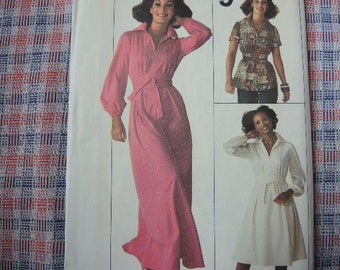 vintage 1970s simplicity sewing pattern 7617 jiffy dress in two lengths or top uncut size 16