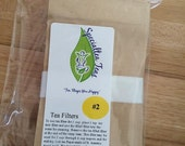 100 Pack #2 Biodegradable Compostable Tea Filters