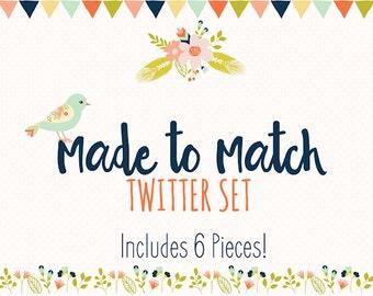twitter set made to match m2m - Made to Match Twitter Set