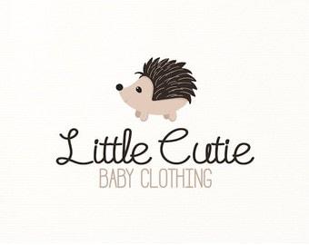 hedgehog logo children woodland animals premade - Logo Design #125