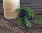 Spruce Scented Soy Candle Pine Premium Soy Pillar Candle White Soy Pillar Candle