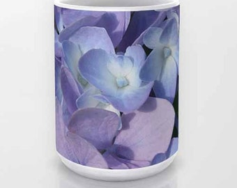 Hydrangea, Coffee Mug, Ceramic Mug, Photo Mug, Flower Mug, Photography, Flower Photography, Garden, Nature Photography