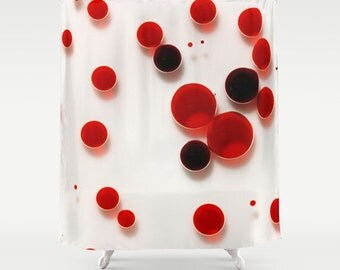 29 Red Bath Shower Curtain, Bath Curtain, Photo Shower Curtain, Shower Curtain, Photography, Digital Photography, Bathroom Decor