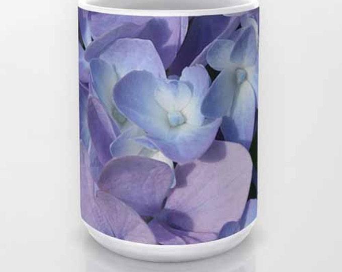 Hydrangea, Coffee Mug, Ceramic Mug, Photo Mug, Flower Mug, Photography, Flower Photography, Garden, Nature Photography