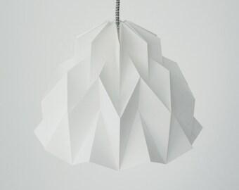 RUFFLE: Origami Paper Lamp Shade - White / FiberStore by Fiber Lab