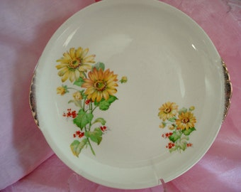 Vintage Dinner Plates Yellow Daisy Heliopsis Paden City Pottery Cottage Chic Set of 4 Vintage Wedding Floral Plates Bridal Shower