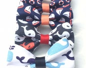 Summertime Bow Ties for Dog Collar - Anchors, Whales, Sailboats and Lobsters