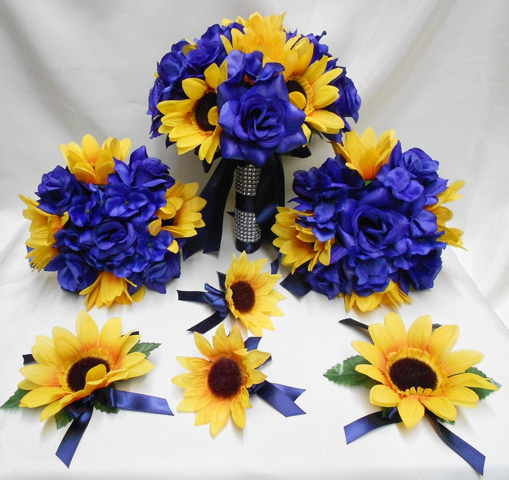 Wedding silk flower bridal bouquets your colors 18 pcs package zoom dhlflorist Gallery