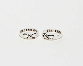 A pair of Infinity Best Friend Ring