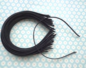 Good quality--50 pcs 5mm wide black  plain satin headband