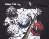 Vintage 1990s Black Chicago White Sox MLB Cooperstown Cotton T-Shirt XL