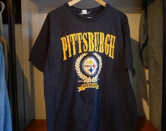 Vintage PITTSBURGH STEELERS Shirt Artex tag 100% Cotton NFL Football Vintage Sports Athletic Outdoor Steelers Gear Merch