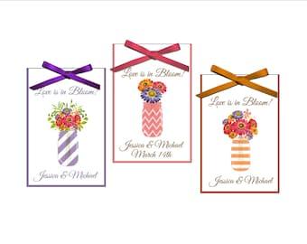 New flroral mason jars Bridal shower seed packet favors - wedding favor, bridal shower favors, - set of 12