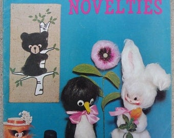 "Vintage Craft Book, ""Furry Novelties"" 1971 Unused"