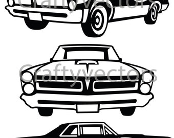 Hot Rod Cars Svg Vector Files on front cartoon car
