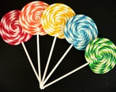 Fake Lollipop LARGE Big Carnival Candy Shoppe Clay Swirl Fake Lollipop Decoration Photo Prop