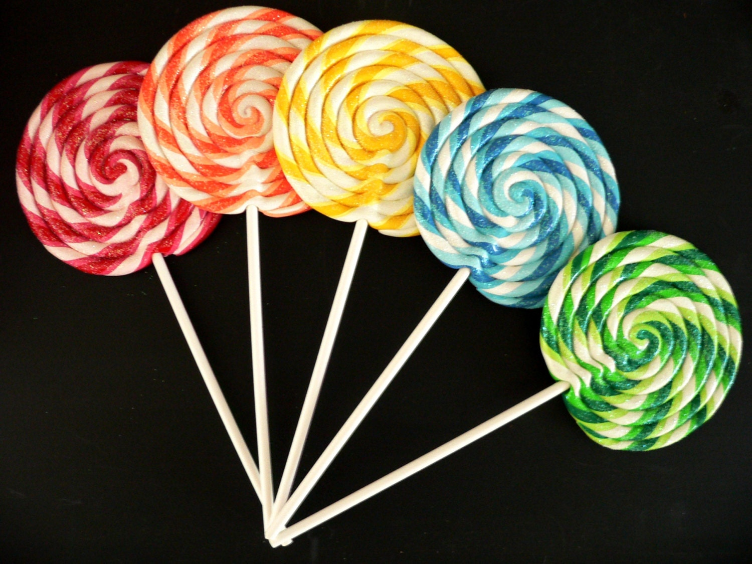 Candy Lollipop And Jelly Machinery Mail: Fake Lollipop LARGE Big Carnival Candy Shoppe Clay Swirl Fake