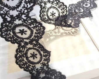 2 yards high quality embroidered lace trim.  Antique style.  Wedding lace. Veil making.  Dress making. Sewng supply