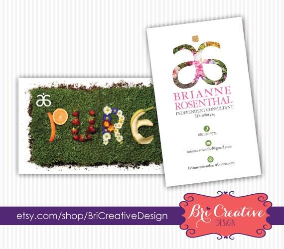 Arbonne Business Card Design