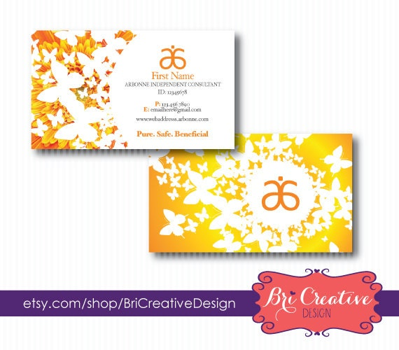 Bright Flower Arbonne Business Card