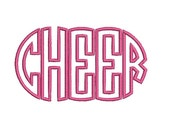 Cheer Applique Monogram Design, Embroidery Font (570) Instant Download