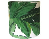 CUSTOM ORDER Two Sconce Shades / Swaying Palms by Tommy Bahama in Aloe / Tropical Green Leaf / Made to Order