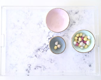 Lucite Tray - Marble - Acrylic Tray - Ghost Tray - Clear Serving Tray - Personalise