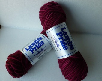 Yarn Sale  - Wine Splash Lamb's Pride Bulky by Brown Sheep Company