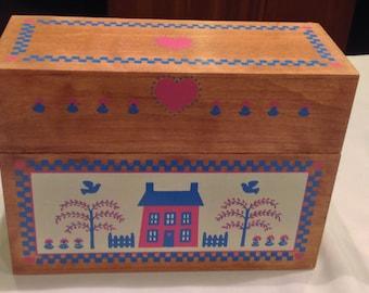 Country Folk Art Wooden Organizer Box by American Greeting