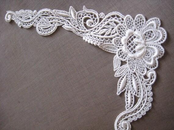 Ivory applique bridal applique bridal supply bridal for Wedding dress appliques suppliers