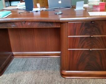 Partner's Desk.  African Mahogany