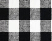 4 Yards Gingham Anderson Check Black White  - Buffalo Checker - Home Decor  - Premier Prints