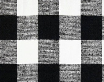 3 Yards Gingham Anderson Check Black White  - Buffalo Checker - Home Decor  - Premier Prints