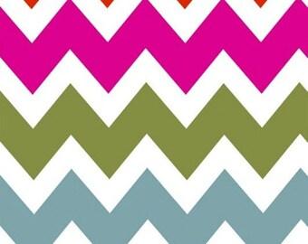 French Bull Ziggy  -  Zig Zag Multi Color - 1/2 Yard Chevron  -  by Jackie Shapiro - Windham Fabrics - 36534-X