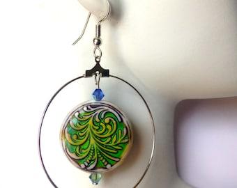 Mood Earrings, Color Changing, Mood Jewelry, Colorful Hoops, Hoop Earrings, Summer Jewelry