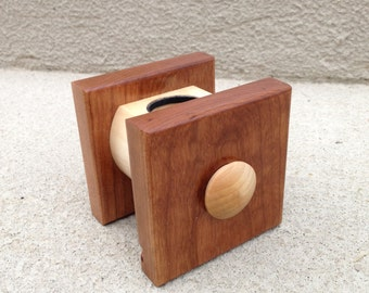Apple Watch Holder / Docking Station / Charging Station Cherry Wood *Works in Nightstand Mode*