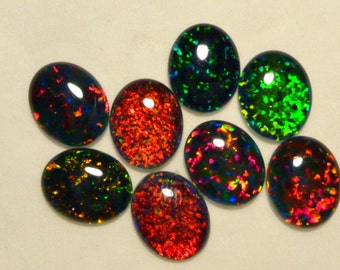 Synthetic Loose Triplet Opal Stones.11 x 9 mm Oval. 8 Pieces. Item 80726.